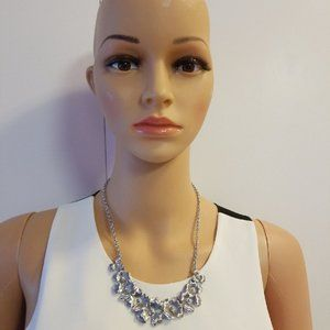 Banana Republic Silver Flower Necklace New